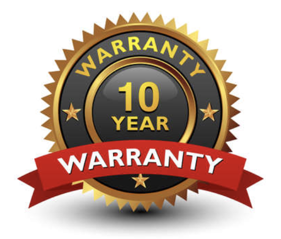 10 year warranty with Vital Water Co,. Hydrocell Pro™ Products and workmanship!