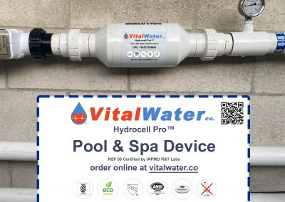 Vital Water Company Pool & Spa Device Installed